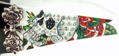 Ed Hardy埃德哈迪太陽眼鏡EHA-SKULL&ROSES-WHITE雙槳劃艇&玫瑰白
