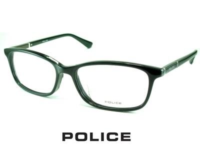スリムなウェリントン/ブラック/ POLICE ポリス めがねフレーム VPLA11J-01KU 【レンズ付セット】【送料無料】 度付き 眼鏡 伊達メガネ メンズ 度つき uvカット シンプル おしゃれ 飛沫 防止