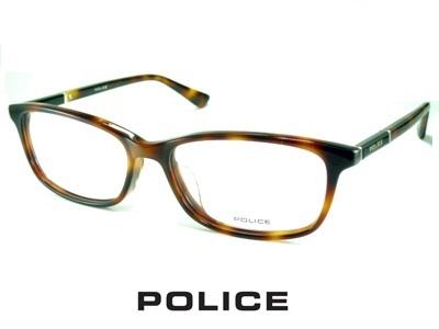 スリムなウェリントン/ハバナ/ POLICE ポリス めがねフレーム VPLA11J-02BU 【レンズ付セット】【送料無料】 度付き 眼鏡 伊達メガネ メンズ 度つき uvカット シンプル おしゃれ 飛沫 防止
