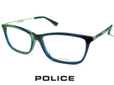 シャープなウェリントン/メタルテンプル/ネイビー/ POLICE ポリス めがねフレーム VPLA13J-02LU 【レンズ付セット】【送料無料】 度付き 眼鏡 伊達メガネ メンズ 度つき uvカット シンプル おしゃれ 飛沫 防止