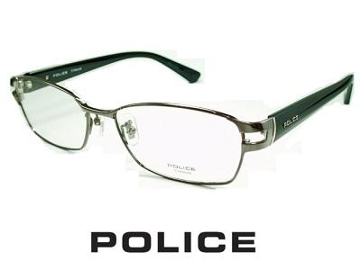 【フルリム】チタン/ガンメタル シャープなスクエア/太目テンプル POLICE ポリス めがねフレーム VPLA99J-0568 【レンズ付セット】【送料無料】 度付き 眼鏡 伊達メガネ メンズ 度つき uvカット シンプル おしゃれ