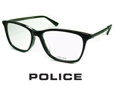槙野智章着用モデル/ビジネススタイル スクエアなウェリントンスタイル/ガンメタル/ブラック POLICE ポリス めがねフレーム VPLB26J-01KV 【レンズ付セット】【送料無料】 度付き 眼鏡 伊達メガネ メンズ 度つき uv おしゃれ