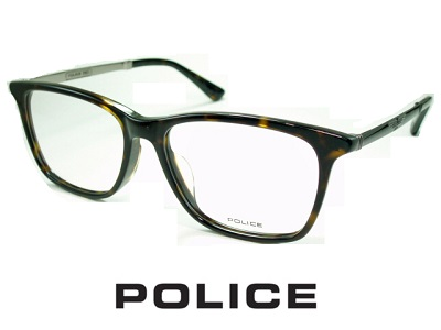 槙野智章着用モデル/ビジネススタイル/ スクエアなウェリントンスタイル/ダークハバナ/ガンメタル/ POLICE ポリス めがねフレーム VPLB26J-02BV 【レンズ付セット】【送料無料】 度付き 眼鏡 伊達メガネ メンズ uv おしゃれ 飛沫 防止