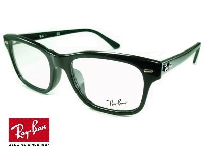 モードなウェリントンスタイル 正規品 メーカー保証書付 黒ブチ ブラック アウトレット Ray-Ban レイバン めがねフレーム RX5383F-2000 ブランド おしゃれ 高級 UVカット 紫外線カット レンズ付セット 送料無料 ビジネス 度付き