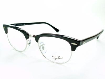 49mm 授与 サーモント 両手がプラスチック 雑誌 眼鏡Begin UOMO 掲載モデル 正規品 メーカー保証書付 ブラック シルバー クラブマスター 送料無料 rx5154-2000 超目玉 紫外線カット 度付き おしゃれ UVカット ビジネス レイバン Ray-Ban レンズ付セット めがねフレーム ブランド