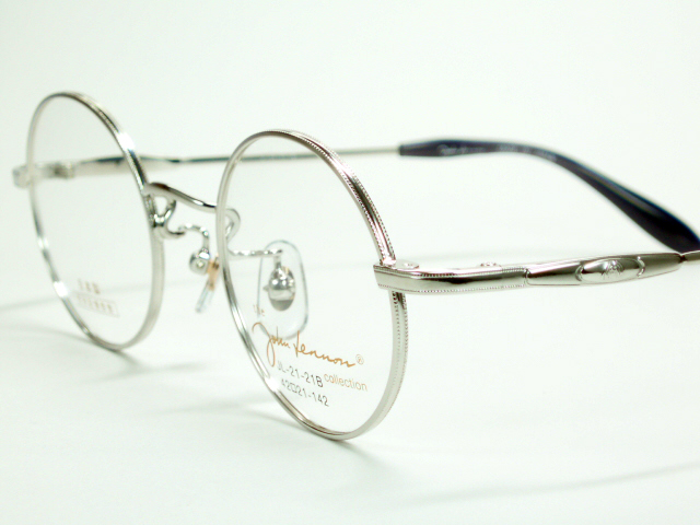 有環形別針開太陽眼鏡的約翰·藍儂john lennon架子21-21b-銀子