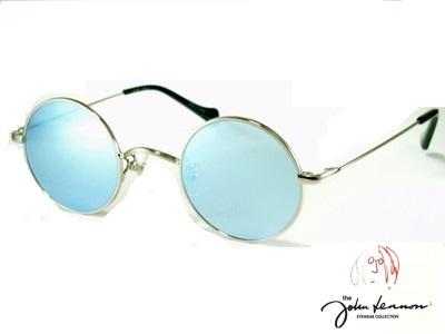 小ぶりな丸メガネ ラウンドスタイル フラットレンズ 正規品送料無料 ライトブルーミラー シルバー John Lennon ジョンレノン 当店は最高な サービスを提供します 防止 オシャレ 送料無料 飛沫 UVカット サングラス 507-2