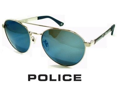 2020/ラウンドスタイル/ブルーミラーレンズ/シャイニーパラジウム/ POLICE ポリス サングラス POLICE SPL891-579B【送料無料】 メンズ UVカット メンズ ブランド 丸メガネ オシャレ ドライブ ジョンレノン 飛沫 防止