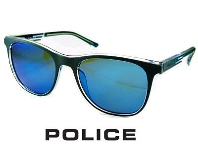 2020 軽量フレーム/偏光レンズ/オーバルなスクエア/ブルーミラー/グレー/マットネイビー POLICE ポリス サングラス POLICE SPL960-787P 【送料無料】メンズ UVカット ブランド オシャレ ドライブ リゾート クール 飛沫 防止