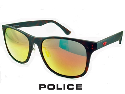 『POLICE ポリス サングラス』SPL982I-878R2019 サングラス 偏光グラス 偏光サングラス メンズ レディース 男性 女性 アイウェア スクエア ウェリントン レッド ミラーレンズ uvカット 紫外線カット 偏光レンズ 鼻パッド付 おしゃれ ブランド 正規品 釣り ドライブ