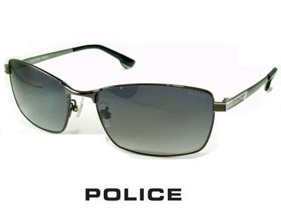 2020/チタン製/スクエア/ガンメタル/グラデーショングレー/ POLICE ポリス サングラス POLICE SPLA60J-0568 【送料無料】 メンズ UVカット メンズ ブランド おしゃれ オシャレ ドライブ プレゼント 飛沫 防止
