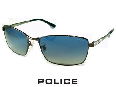 2020/偏光レンズ/チタン製/スクエア/ネイビー/ガンメタル POLICE ポリス サングラス SPLA60J-568P【送料無料】 偏光グラス メンズ UVカット メンズ ブランド おしゃれ オシャレ ドライブ 釣り 夜 ナイト プレゼント 飛沫 防止