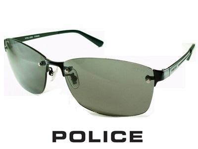 2020/偏光レンズ/チタン製/フチ無しフレーム/スクエア/ダークグレー/ブラック/ POLICE ポリス サングラス POLICE SPLA63J-530P 【送料無料】 偏光グラス メンズ UVカット メンズ ブランド おしゃれ オシャレ ドライブ 釣り 飛沫 防止