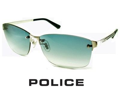 2020/ネイビーグラデーション/チタン製 /フチ無しフレーム/スクエア /パラジウムカラー POLICE ポリス サングラス POLICE SPLA63J-579L【送料無料】 メンズ UVカット メンズ ブランド おしゃれ オシャレ ドライブ ふちなし 飛沫 防止