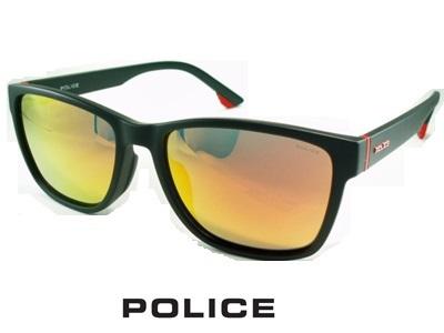 2020 軽量スマートフレーム/偏光レンズ/スクエアスタイル/レッドミラー/ダークブルーグレー/ マットブラック POLICE ポリス サングラス POLICE SPLA68J-96SP【送料無料】 メンズ UVカット ブランド オシャレ ドライブ リゾート クール 飛沫 防止