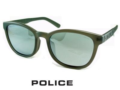 2020 軽量スマートフレーム 偏光レンズ ラウンドっぽいスクエア シルバーミラー ダークグレー マットクリアグレー POLICE ポリス サングラス POLICE SPLA69J-7VGP メンズ UVカット ブランド オシャレ ドライブ リゾート クール 飛沫 防止