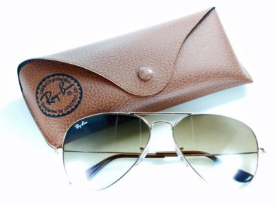 Brown Ray-Ban Ray Ban sunglasses RB3025 001 / 51 'Aviator' classic metal 005P17May13