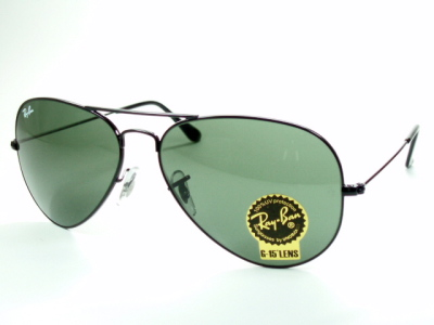 And black metal Ray-Ban Ray Ban sunglasses RB3025 l2823 'Aviator' classic metal 05P17May13