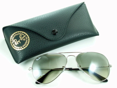 Silver Ray-Ban Ray Ban sunglasses RB3025 003 / 32 'Aviator' classic metal 05P28oct13