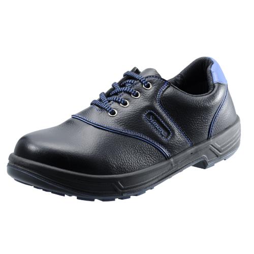 安全靴 作業靴 セーフティシューズ SL11-BL 黒/ブルー (23.5~28.0cm(EEE)) シモンライトシリーズ SX3層底 短靴 シモン(Simon) お取寄せ