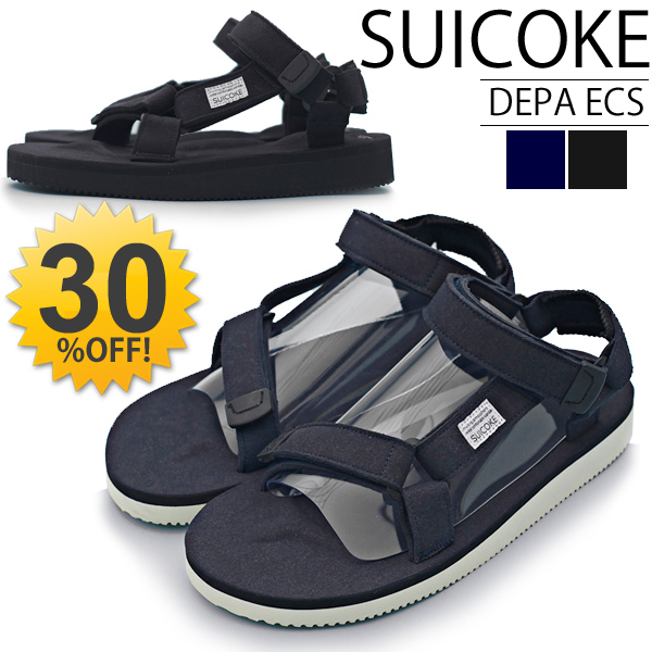 194773e9532a Sicock SUICOKE Sandals DEPA ECS suede suede men s shoes shoes strap Vibram  sole outdoor men