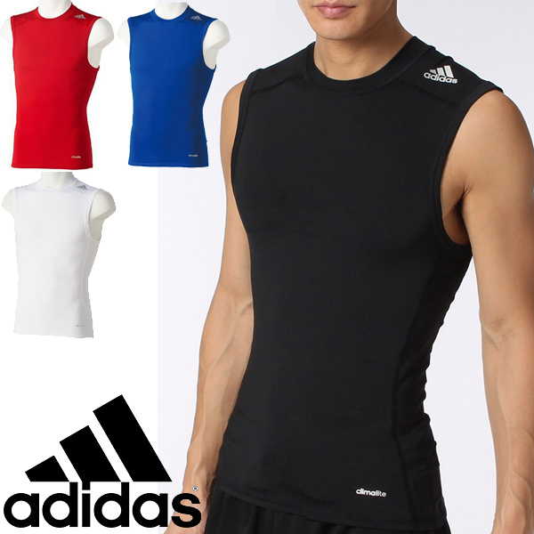 492a1eb19bcc7 WORLD WIDE MARKET  Adidas Mens tech fit sleeveless compression ...