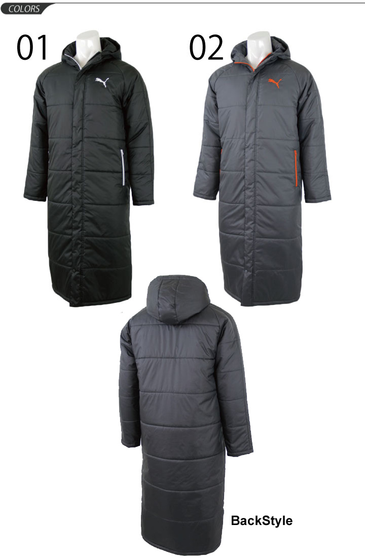 d9af77a3e ... PUMA cotton coat men's coat PUMA bench coat a bench warmer winter cold  weather wear protection