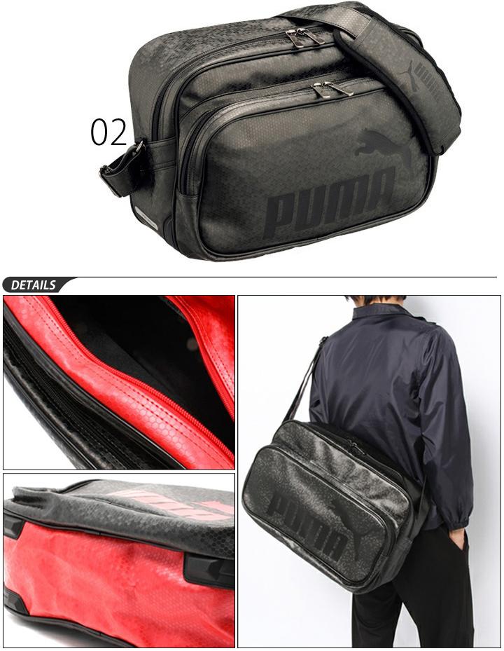 Enamel bag / PUMA /PUMA/L size / Matt type B / shoulder bag sports bag / 072405