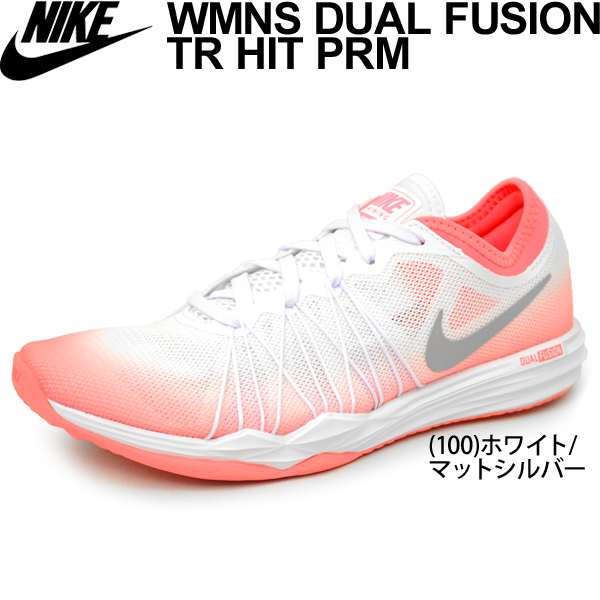 Nike Lady's training shoes NIKE dual fusion TR HIT PRM fitness gym woman  low-frequency