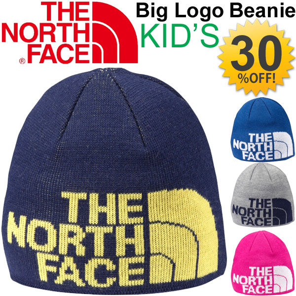 0b42823e3 North face THE NORTH FACE kids caps big logo Beanie kids Kamon Cap knit Cap  Hat CAP and warm warmth winter accessories outdoor Japan Jig genuine ...
