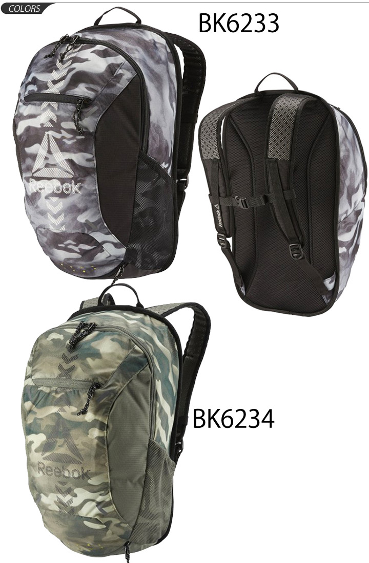 Backpack Boston bag Reebok Reebok sports bag men rucksack 24L day pack camo  camouflage pattern casual basic club activities commuting school bag unisex  bag ...