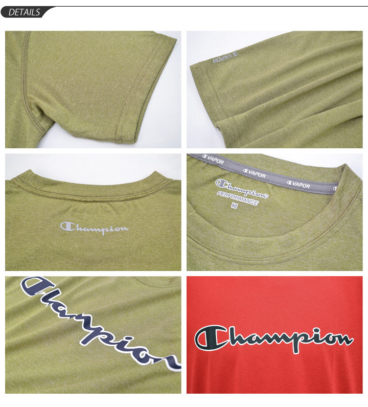 All 6 logo print T crew neck half sleeve T-SHIRTS color C3KS321 regular article /C3-KS321 for the T-shirt short sleeves men champion champion C VAPOR training gym sports casual wear man