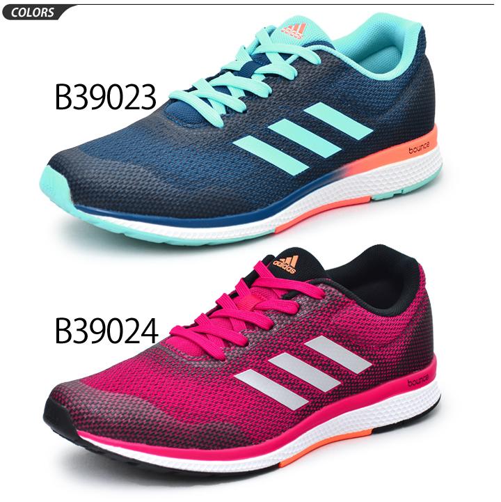 愛迪達adidas女士跑步鞋Mana BOUNCE 2 W ARAMIS manabaunsujogingumarasonsabu 4副5行走健身房休閒女性低切運動鞋B39024/B39023/ManaBounce2w