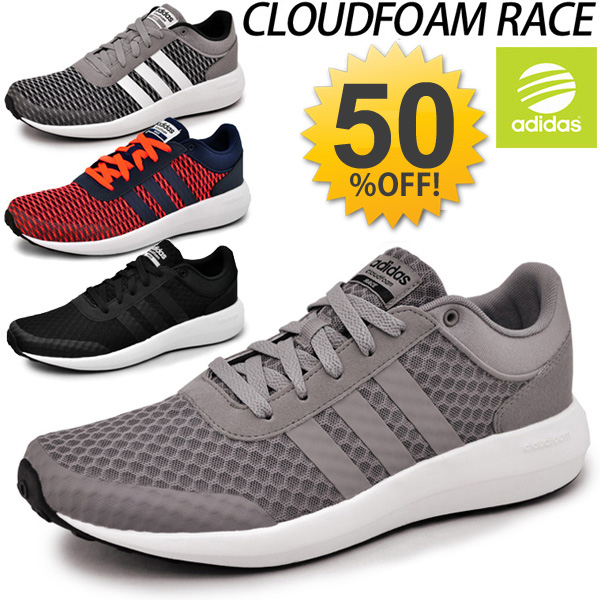 adidas men's neo cloudfoam race casual shoes