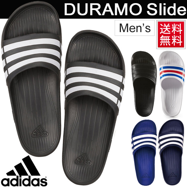 adidas Duramo Slide Slippers Men White, Blue