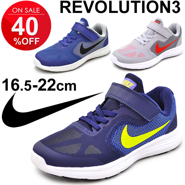 546b8476e6 Kids shoes Nike NIKE revolution 3 PSV youth sneakers shoes REVOLUTION  16.5-22.0cm child shoes running shoes light weight Velcro sports shoes  /819414-