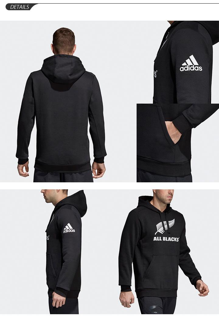 Parka sweat shirt men Adidas adidas ALL BLACKS Hoodie All Blacks pullover rugby supporterware sweat shirt big logo BQ6279 sportswear DMQ24