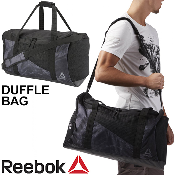 Boston Bag Men Gap Dis Reebok Combat Duffel Back Training Gym Sports Traveling Black Ede09