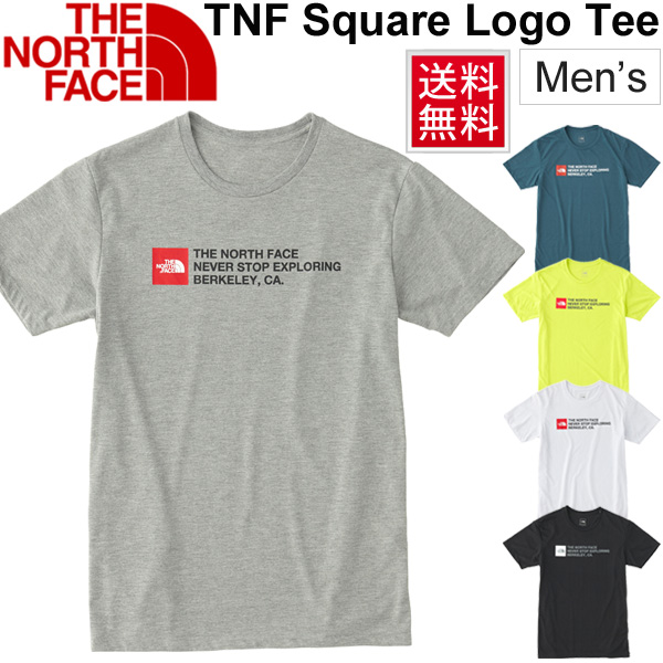 d6a8e04c3 T-shirt short sleeves men / North Face THE NORTH FACE TNF square logo tea /  man outdoor running sports casual wear cut-and-sew /NT31893