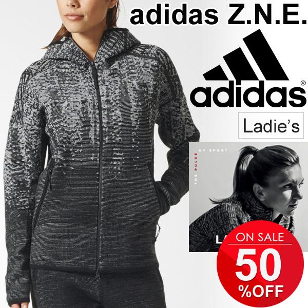 トレーニングウェア ジャケット レディース アディダス adidas ZNE PULSE パルスニットフーディ 女性用 パーカー スポーツウェア カジュアル アウター BS4945 Z.N.E.(ゼットエヌイー)/DKM56