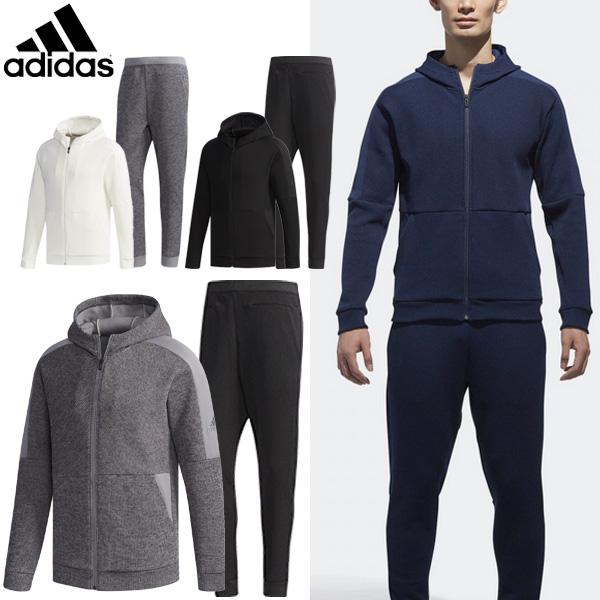 トレーニングウェア 上下セット メンズ/adidas アディダス/MIDクォーターニット フルジップ ジョガーパンツ/男性 ジャージ ウォームアップ ジム スポーツウェア 普段使い 上下組 /EUA11-EUA01