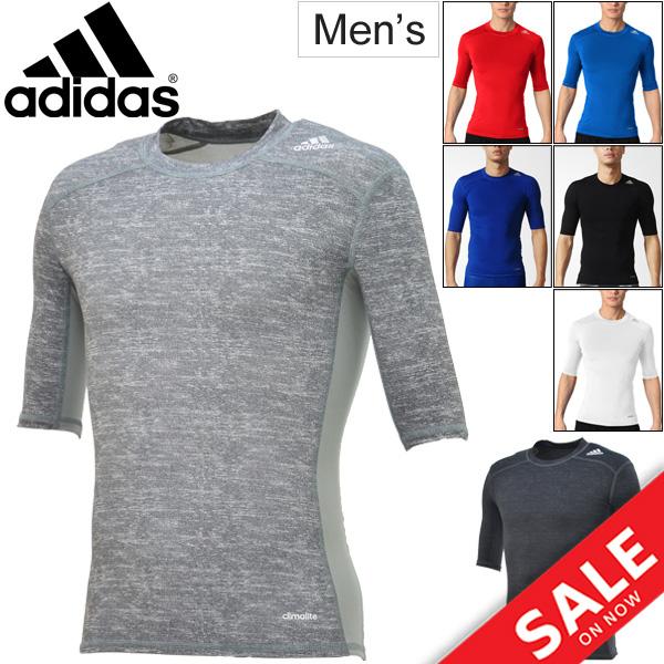fc219dbb86 Adidas adidas / mens tech fit short sleeve t-shirt compression underwear  inner TECHFIT training gym men's / men's /BCI84