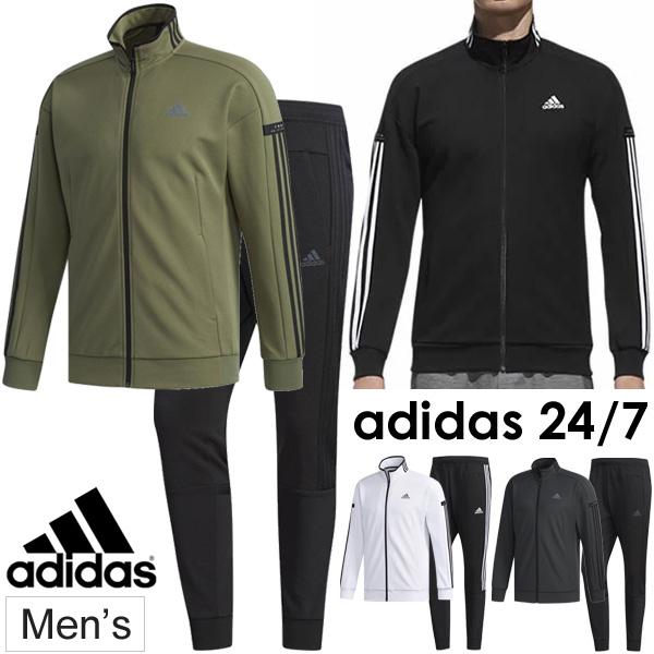 ジャージ 上下セット メンズ/adidas アディダス 24/7 ウォームアップ ジャケット テーパードパンツ/スポーツウェア 男性用 上下組 トレーニング ジム 運動 セットアップ/FKK26-FKK25