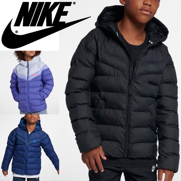 中綿ジャケット コート キッズ ジュニア 男の子 女の子/NIKE ナイキ YTH フィル ジャケット 子供服 アウター 防寒 フード付き ブルゾン ジャンバー スポーツ 普段使い/939554
