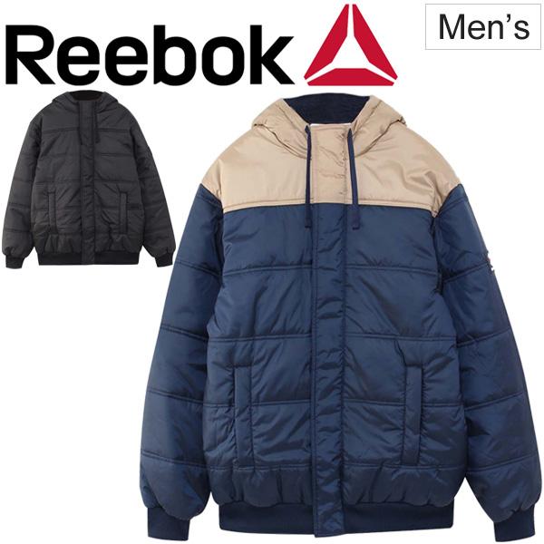 ブルゾン ジャンパー メンズ Reebok リーボック F パフ ボンバー アウター 男性用 中綿 ボンバージャケット フード カジュアル スポカジ 防寒 コート/ EYZ22