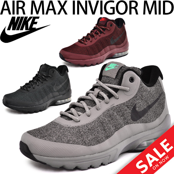 73d202f7f554b Men s men s shoes shoes mid cut sneakers NIKE AIR MAX INVIGOR MID Air Max  in bigger mid repellent water men shoes   858654
