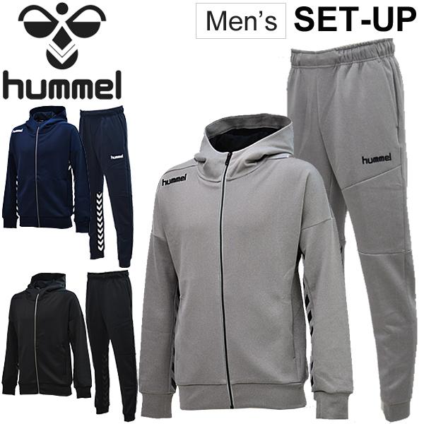 スウェット ジャケット パンツ 上下セット メンズ hummel ヒュンメル スポーツウェア サッカー トレーニング スエット トレーナー スリムフィット 上下組/HAP8203-HAP8203P