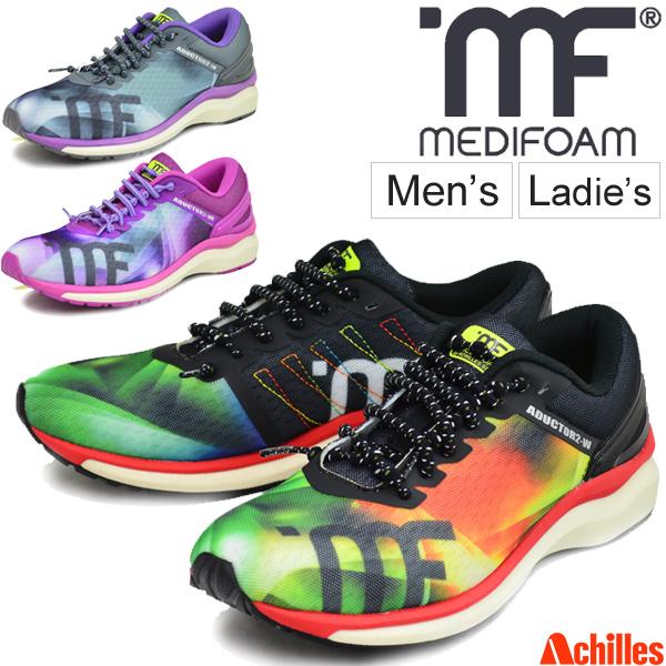 ランニングシューズ メンズ レディース アキレス ソルボ MEDIFOAM メディフォーム ADUCTOR2 MF-204 ワイド/ジョギング マラソン 陸上 ACHILLES SORBO 靴 スポーツシューズ/MFR2040