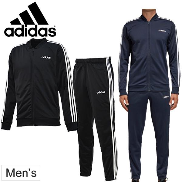 トレーニングウェア ジャージ 上下セット メンズ アディダス adidas 3ストラップ トリコット トラックスーツ ジャージ スポーツウェア 男性用 トラックジャケット ジョガーパンツ セットアップ 上下組/FRW20