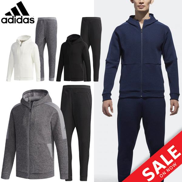トレーニングウェア 上下セット メンズ/アディダス adidas/MIDクォーターニット フルジップ ジョガーパンツ/男性 ジャージ ウォームアップ ジム スポーツウェア 普段使い 上下組 /EUA11-EUA01